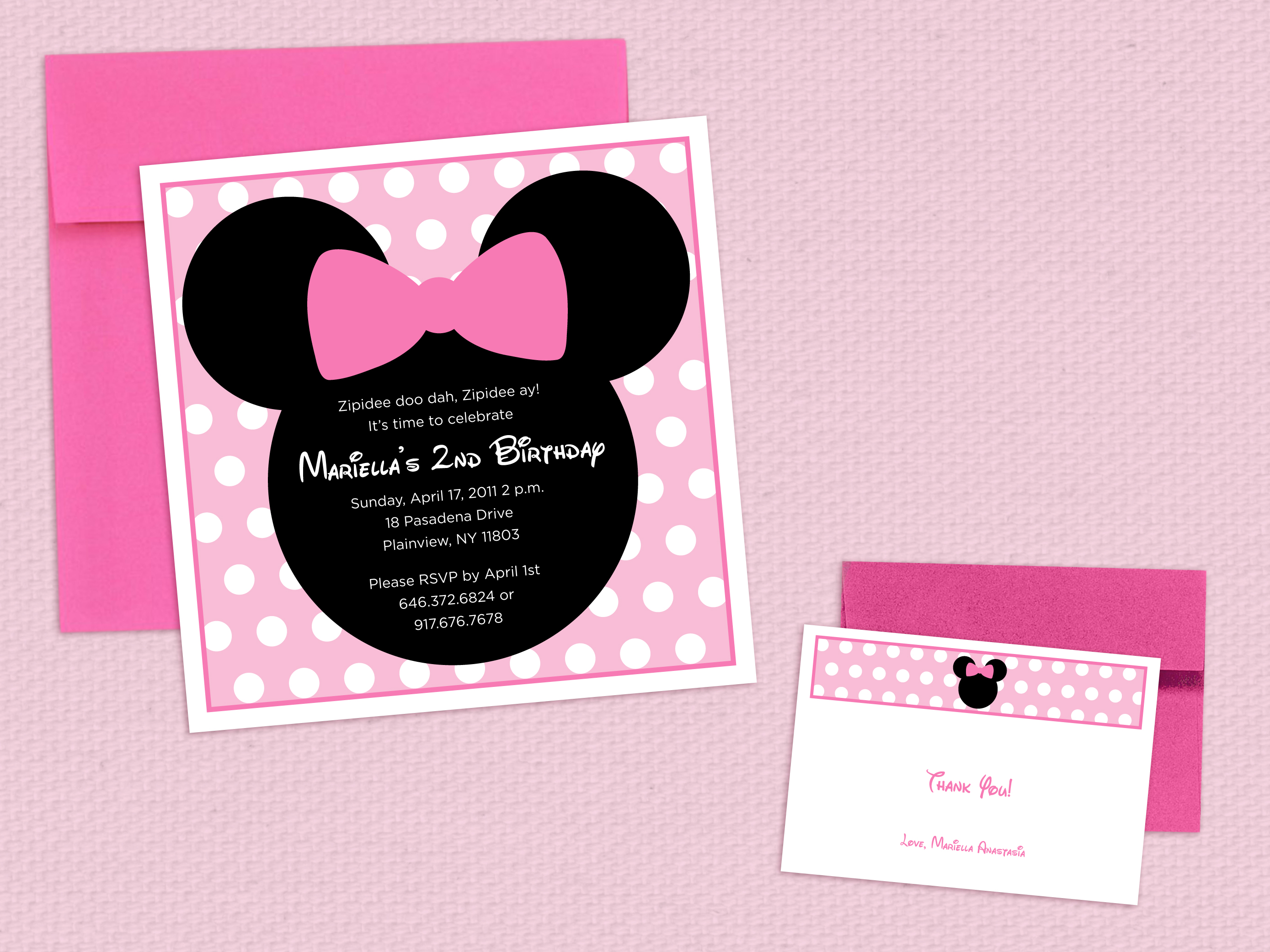 mini mouse invitations | the sunny side's up